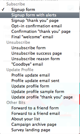 Starting a MailChimp Blog Newsletter - Form Options