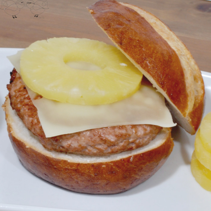 Teriyaki Turkey Burger with Alpine Lace Reduced Fat Swiss Cheese {The Love Nerds} #LifeIngredients #AlpineLace #recipe