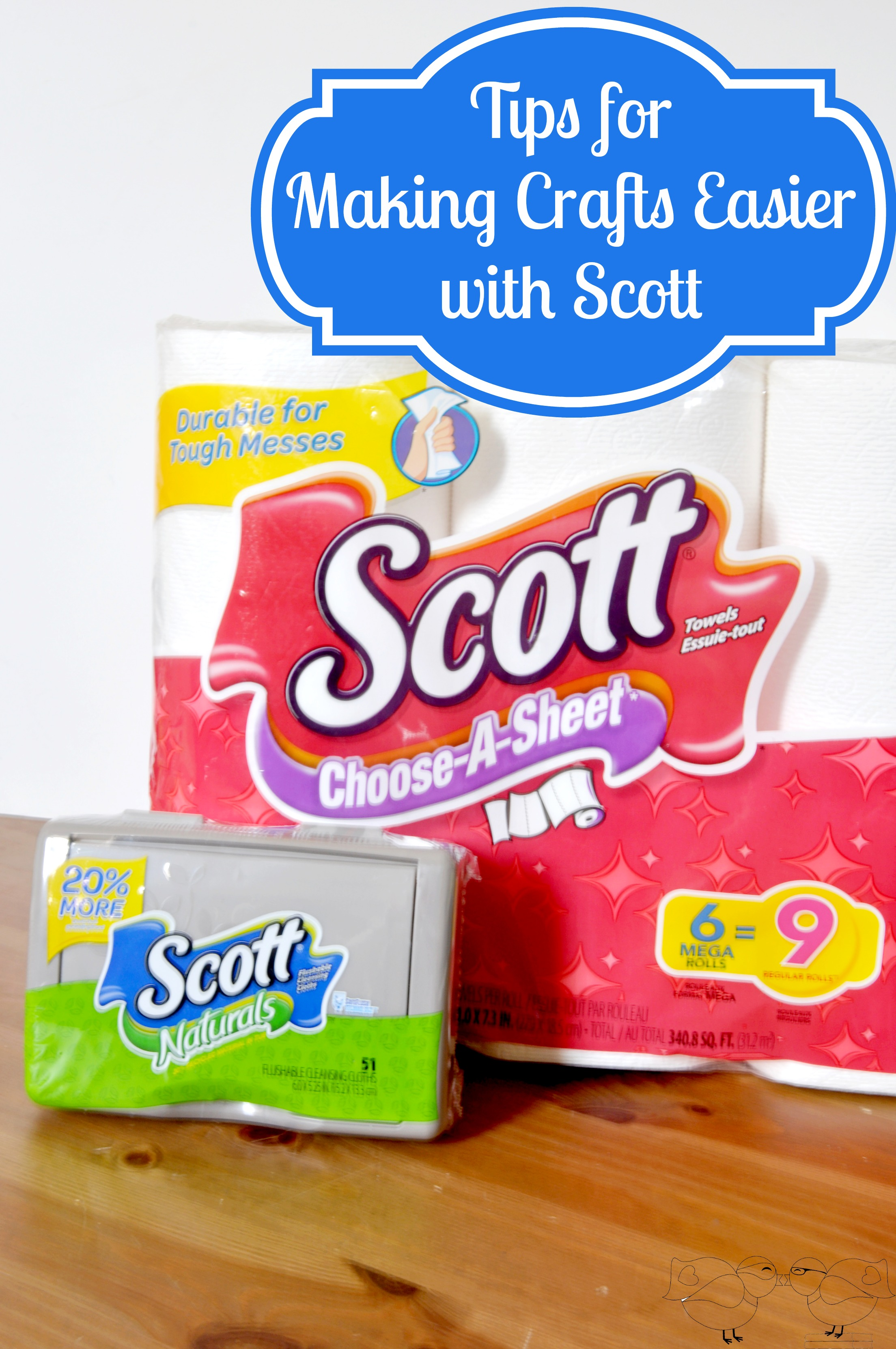 Tips for Making Crafts Easier with Scott Brand Paper Towels and moist wipes {The Love Nerds} #ScottValue #PMedia #ad