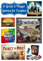 6 Great 2-Player Games for Couples - Perfect for a Date Night at Home! {The Love Nerds} #datingmyhusband #gamenight #boardgames