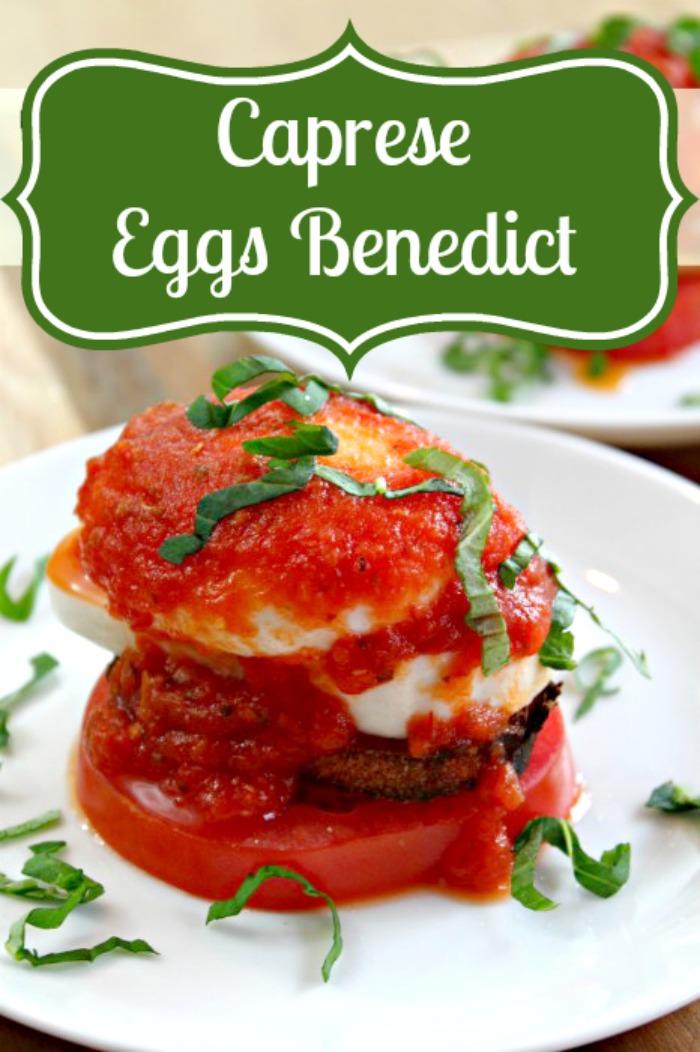 Caprese Eggs Benedict - A delicious twist to a classic breakfast idea! {The Love Nerds} #caprese #eggsbenedictrecipe #breakfast #brunch