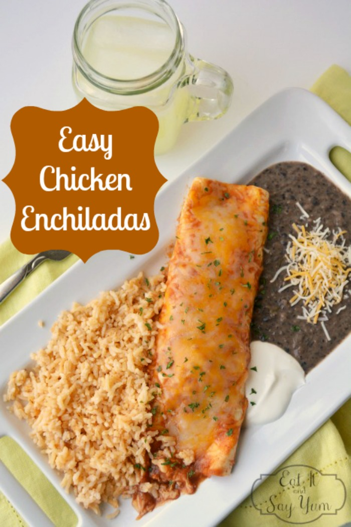 Easy Chicken Enchiladas - Delicious meal to add to your menu rotation! {The Love Nerds}