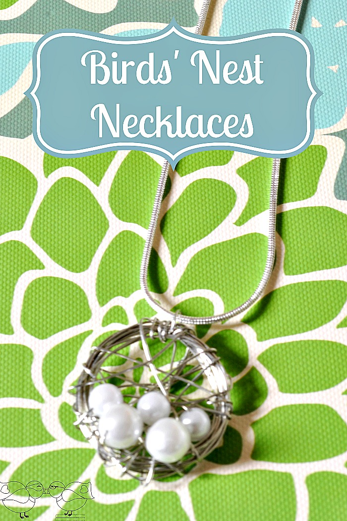 Personalized Birds Nest Necklaces - A simple and budget friendly gift idea that is perfect for Mother's Day, birthdays, or even shower favors! {The Love Nerds}