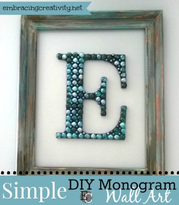 Simple-DIY-Wall-Art-with beads