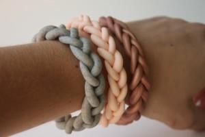 braided clay bracelets diy jewelery