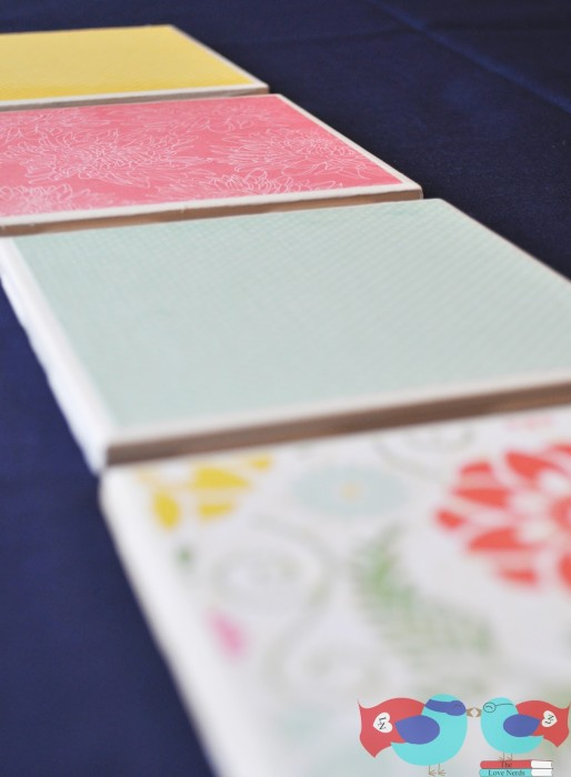 diy coasters with scrapbook paper