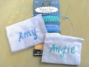 diy monogrammed card holder