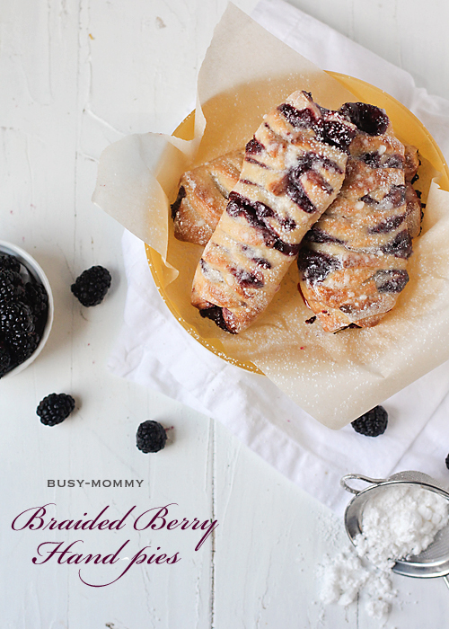 easy braided berry hand pies