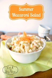 Summer Macaroni Salad - A refreshing and delicious summer side dish! {The Love Nerds} #recipe #sidedish #pastasalad