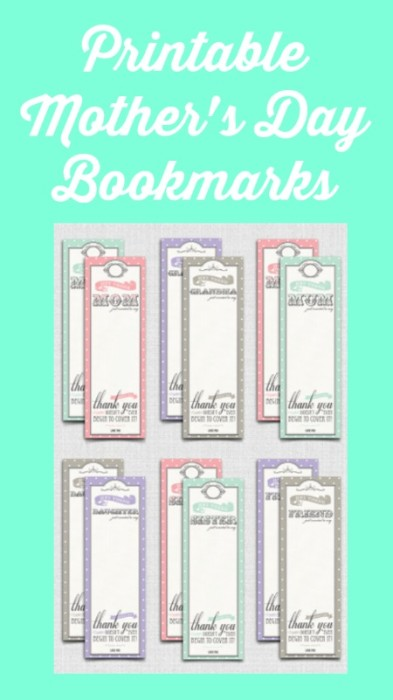 mother's day bookmarks free printable