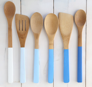 ombre wood painted spoons diy gift