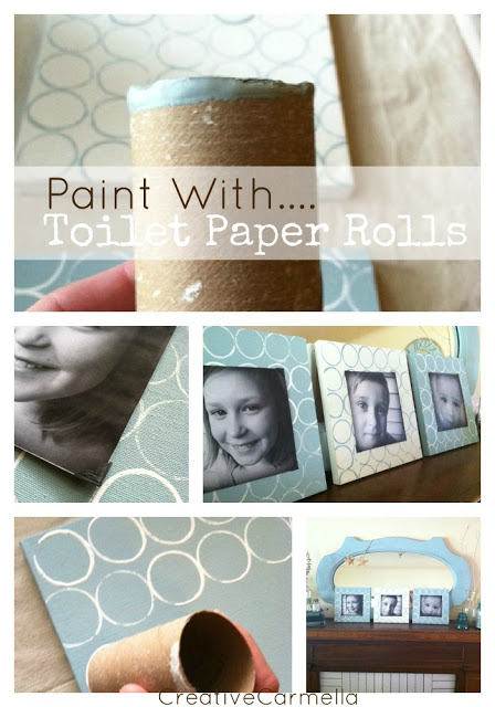 paint with toilet paper roll paintings