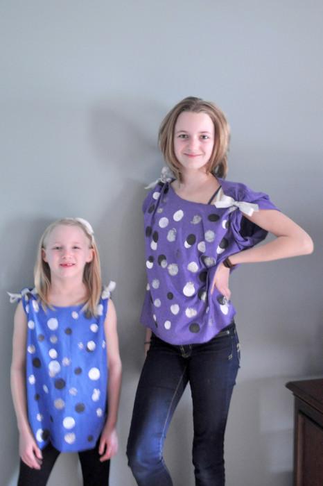 Kid Friendly Craft: Painted Polka Dot T-Shirt {The Love Nerds} #crafts #kidcraft #summerfun