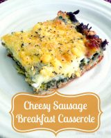 Cheesy Sausage Breakfast Casserole - An easy way to serve up a fantastic brunch! {The Love Nerds} #brunchideas #casserole #sausageandegg