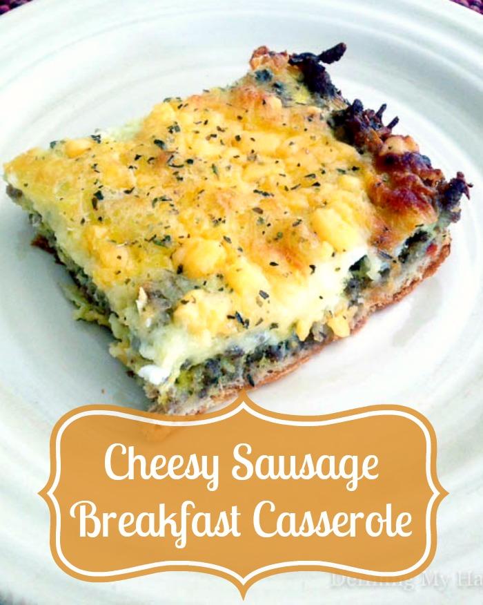 Cheesy Sausage Breakfast Casserole - An easy way to serve up a fantastic brunch! {The Love Nerds} #brunchideas #casserole #sausageandegg