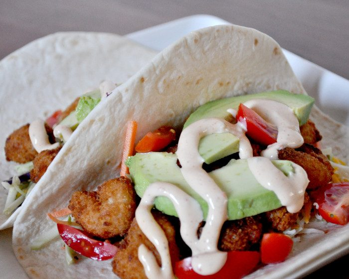 Crispy Shrimp Tacos - The Love Nerds