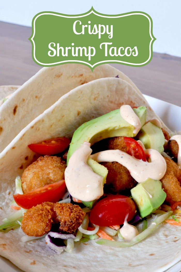 Crispy Shrimp Tacos - A Delicious Meal Ready in 15 Minutes! {The Love Nerds} #15minutemeal #shrimptacos #tacorecipe