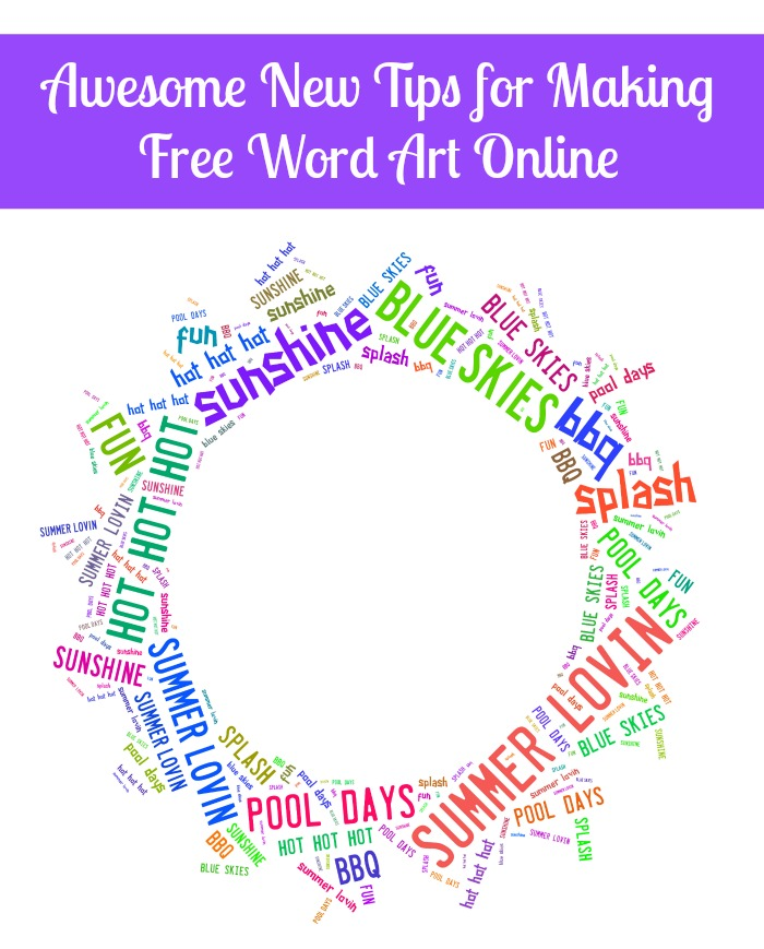 Free Shaped Word Art Online! Come check out more great tips for using Tagxedo, including making phrases and uploading your own images! {The Love Nerds} #freewordart #subwayart