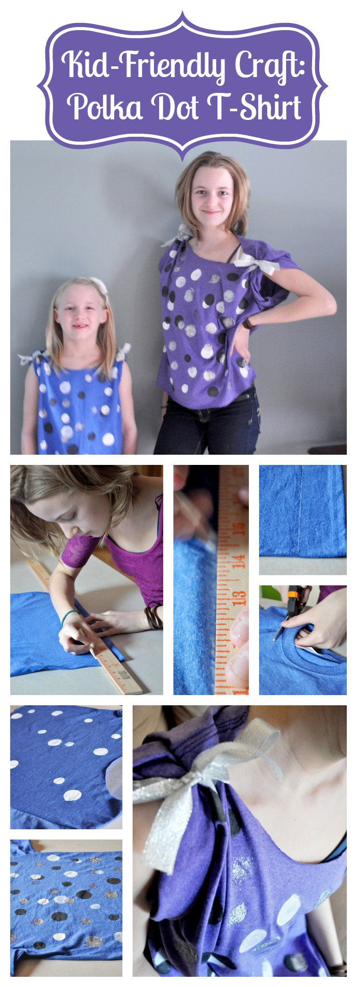 Kid Friendly Craft: Painted Polka Dot T-Shirt