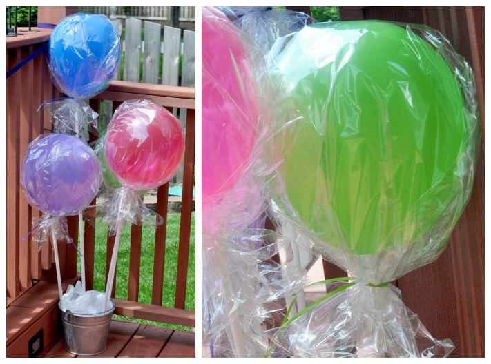 Awesome Lollipop Balloons for a fun Lollipop Birthday Party {The Love Nerds} #birthdayparty #lollipopparty