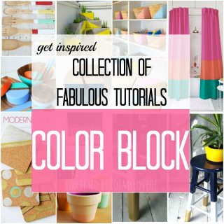 A Collection of Fabulous Color Block Tutorials and Crafts {The Love Nerds} #crafts #diy #homedecor