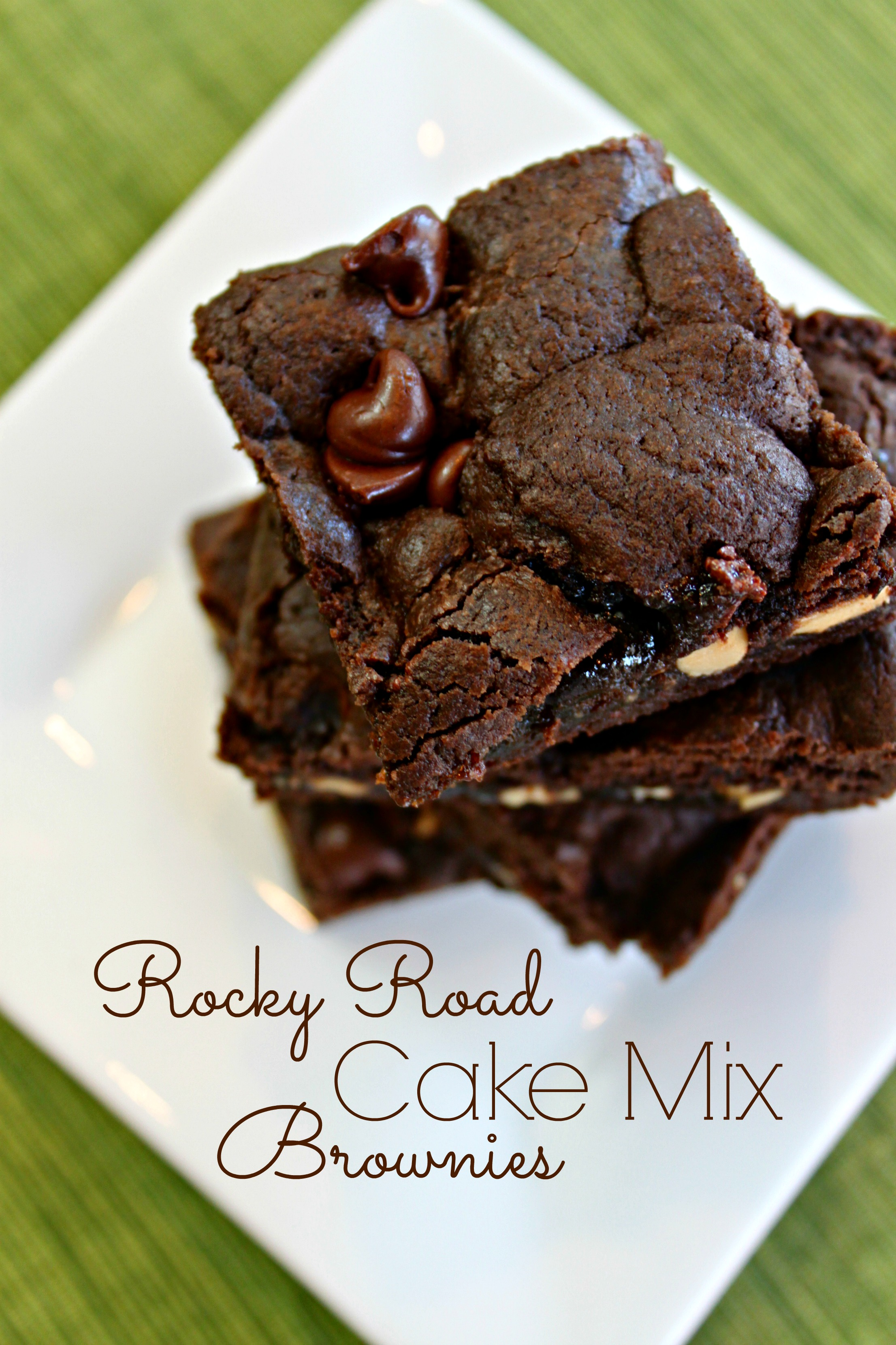 rocky road cake mix brownies