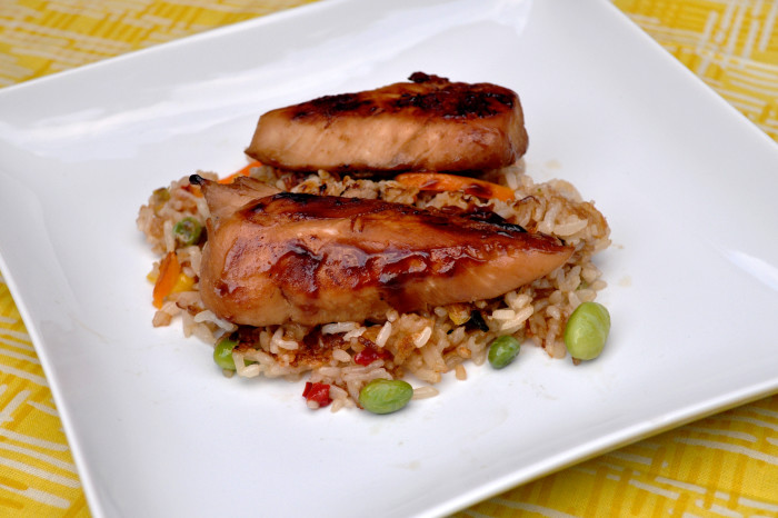 Chicken Teriyaki with Vegetable Fried Rice - This meal is ready to eat ...