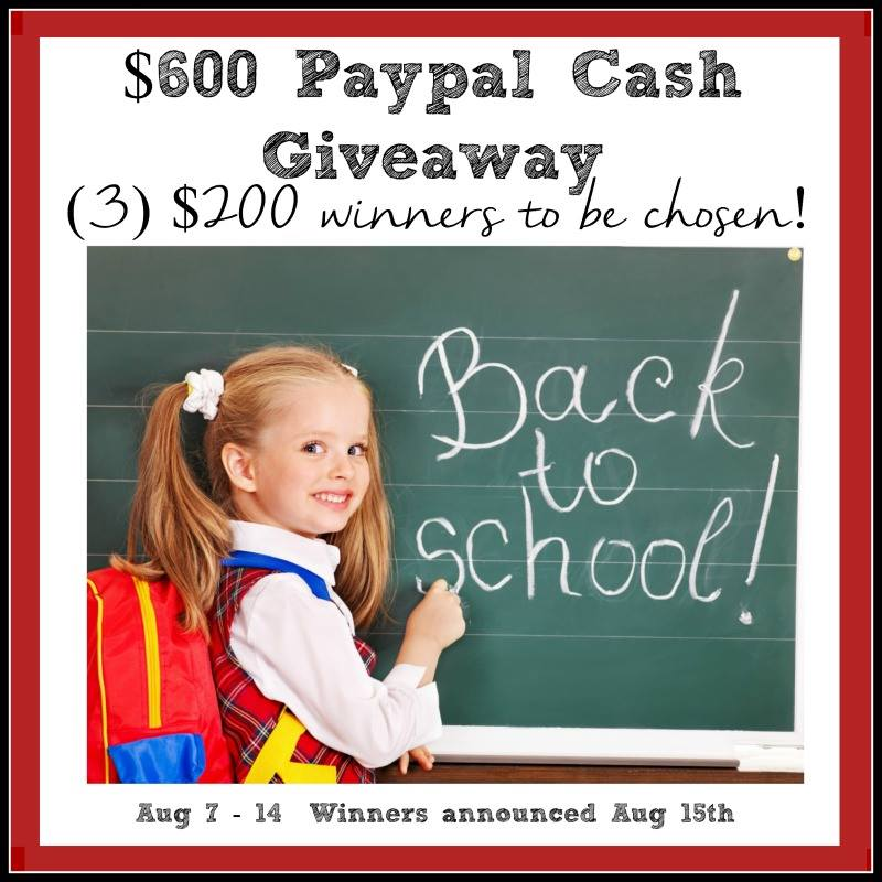 Back to School PayPal Cash Giveaway - 3 winners will get $200 cash! {The Love Nerds} #giveaway #backtoschool