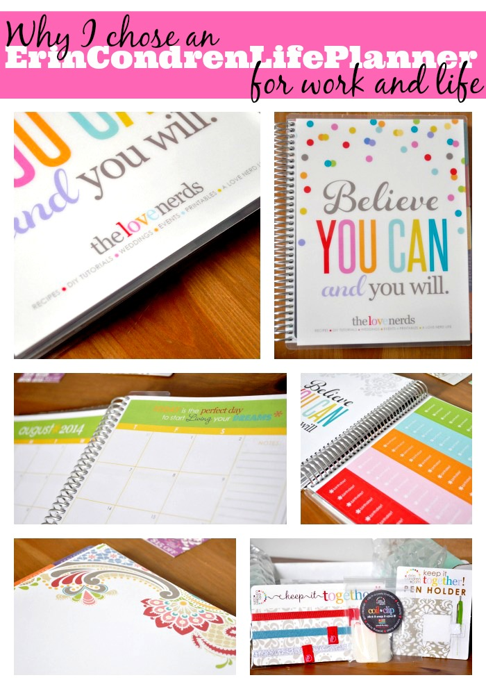 Why I chose an Erin Condren Life Planner for work and life! Trust me, I haven't looked back! {The Love Nerds} #organized #planners #calendars