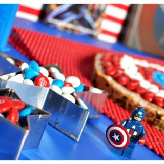 Captain America Party with the BEST Giant M&M Cookie