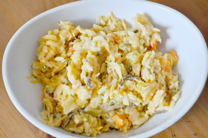 Chicken and Wild Rice Casserole - delicious, cheesy and hearty! {The Love Nerds} #chickenandwildricerecipe #dinneridea #casserolerecipe