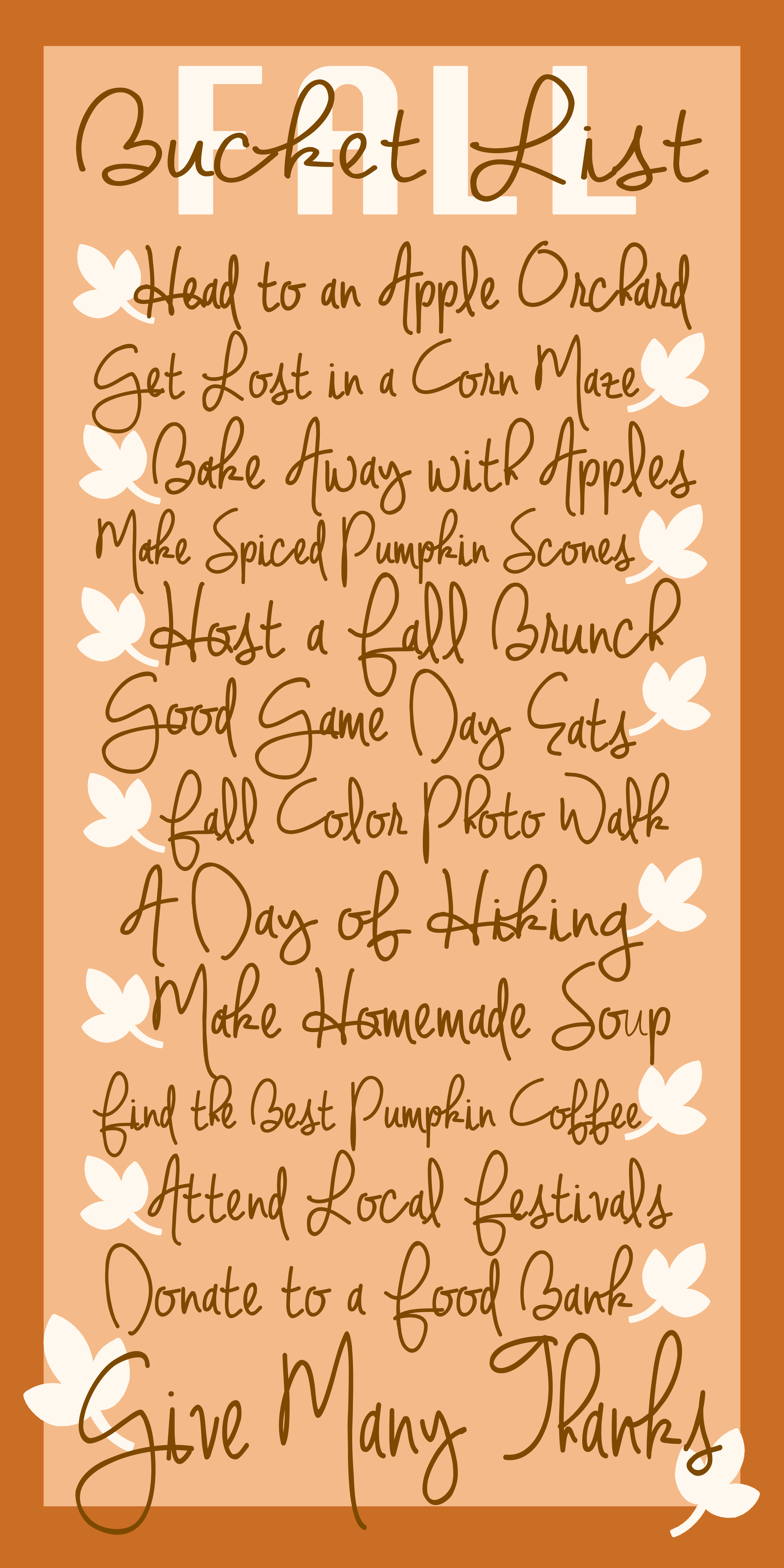 Fall Bucket List - Don't let time get the better of you! Make sure to enjoy some classic fall activities! {The Love Nerds} #fallfun #dateideas