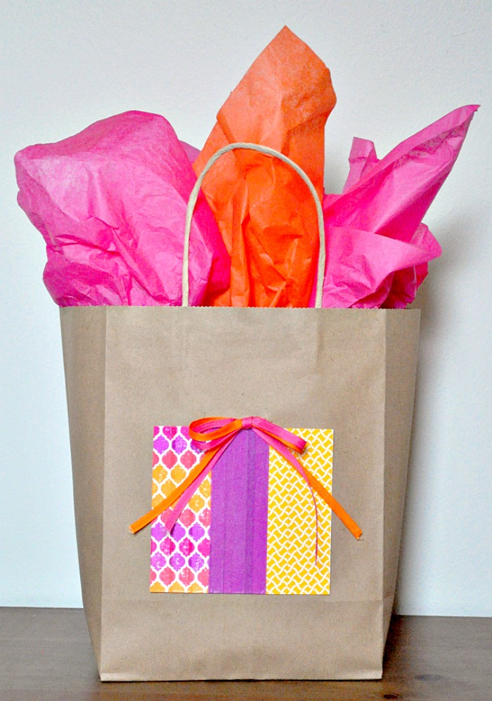 DIY Kraft Gift Bag Idea