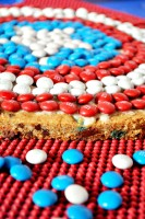 Captain America Party with the BEST Giant M&M Cookie {The Love Nerds} #HeroesEatMMs #CollectiveBias #shop #party