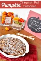 Delicious Pumpkin Cinnamon Roll Casserole - the perfect fall brunch idea! {The Love Nerds} #recipe #breakfast #cinnamonrollrecipe #pumpkinrecipe