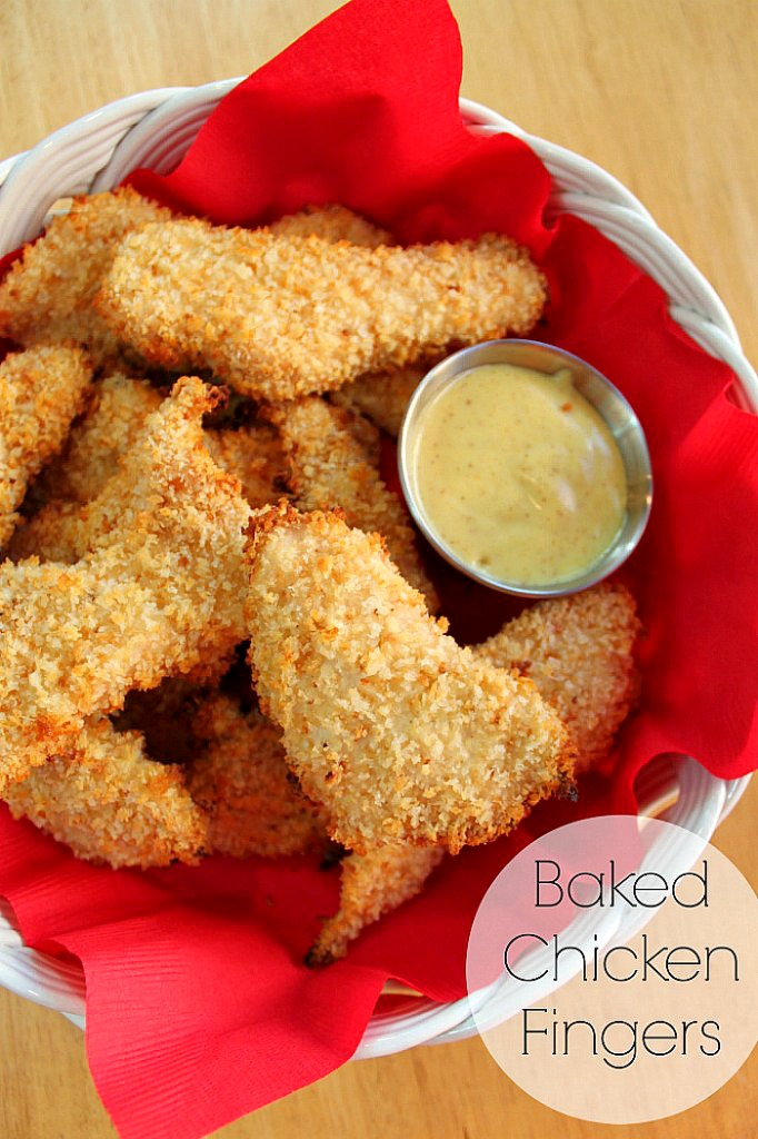 Quick & Easy Baked Chicken Fingers - Only need a few ingredients to make this easy dinner idea! {The Love Nerds} #easydinneridea #chickenrecipe #kidfriendly