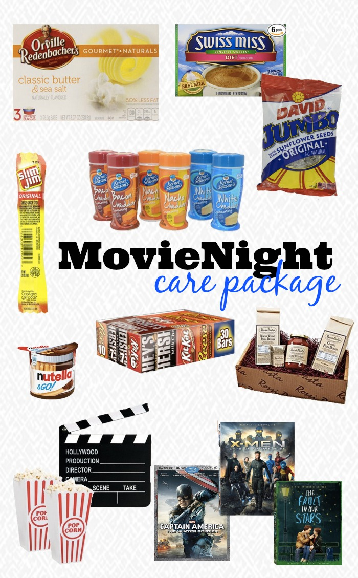 Movie Night Care Package Ideas - Send a College Student you love a surprise in the mail or turn this into a fun Christmas gift! {The Love Nerds} #AmazonWishList #AmazonHasIt
