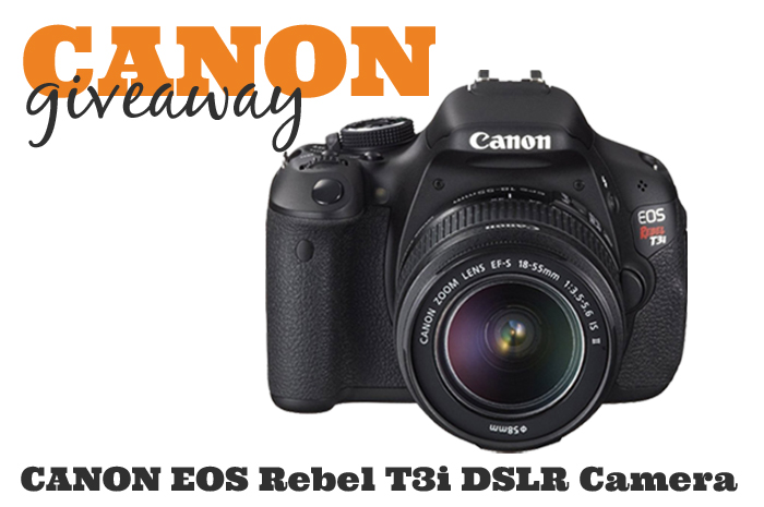 The holidays are quickly approaching, so be prepared with this chance to win a CANON EOS Rebel T3i DSLR Camera {The Love Nerds}