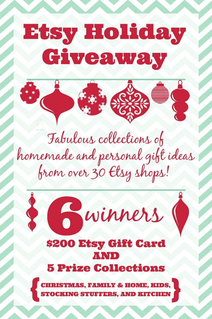 Etsy Holiday Giveaway with 6 winners - $200 Etsy<span style=