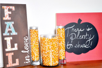 DIY Fall Decor Signs - Fall in Love and Chalkboard Pumpkin {The Love Nerds} #falldecor #crafts #diysigns #fallinlove