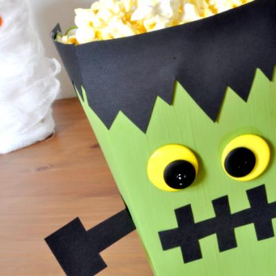 Last Year's Mummy Gets a Friend – a Frankenstein Monster Popcorn Box