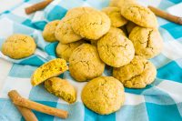 The best cookie recipe for fluffy Pumpkin Snickerdoodles! They are soft, chewy and full of fall spices. You will definitely want to make these for Halloween and Thanksgiving dessert as they'll easily become everyone's favorite fall cookie!
