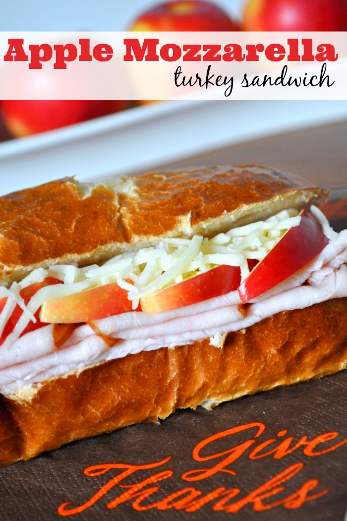 Apple Mozzarella Turkey Sandwich - a dressed up sandwich that makes a meal feel special without hard work! Perfect for Thanksgiving leftovers! {The Love Nerds} #TasteTheSeason #ad