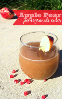 Apple Pear Pomegranate Cider - a delicious hard apple cider recipe and cocktail perfect for a fall party. {The Love Nerds}