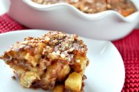 The perfect brunch recipe for a special occasion! A delicious and fluffy Apple Pie Cinnamon Roll Casserole! You will love it! {The Love Nerds}