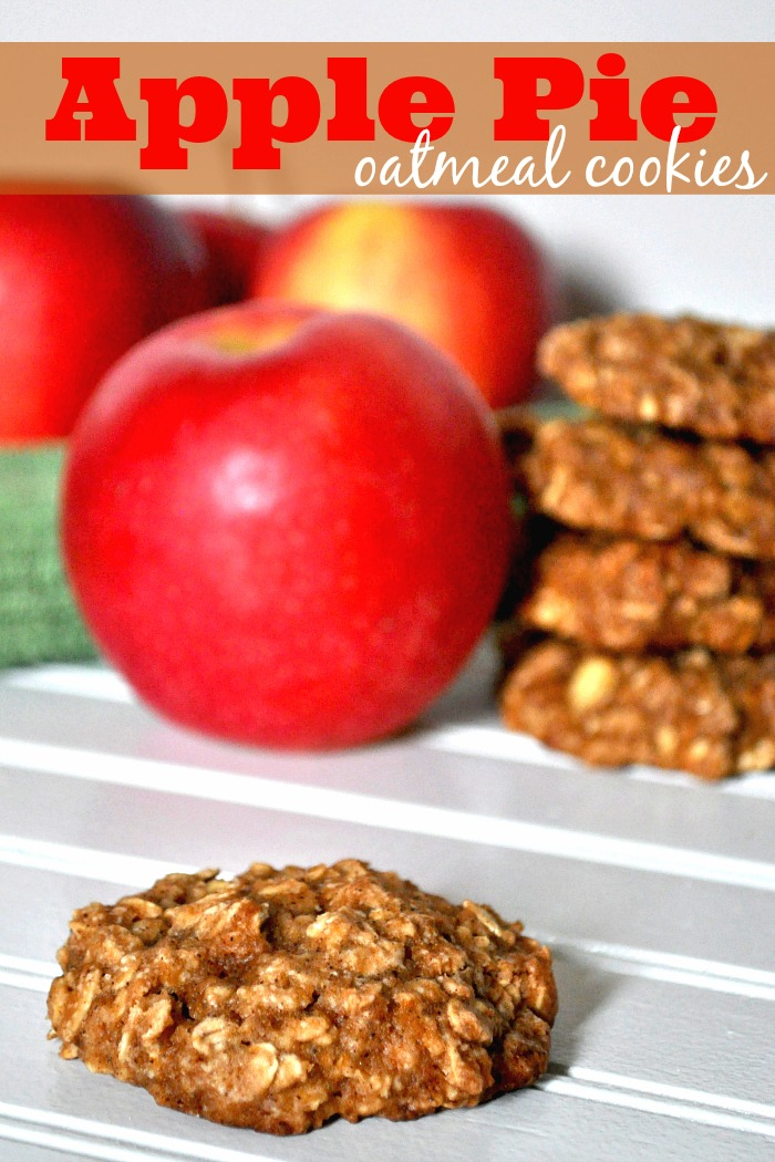 Apple Pie Oatmeal Cookies - A Healthier Cookie options with chunks of real apple, limited butter, and no oil. PLUS, they are really fluffy.