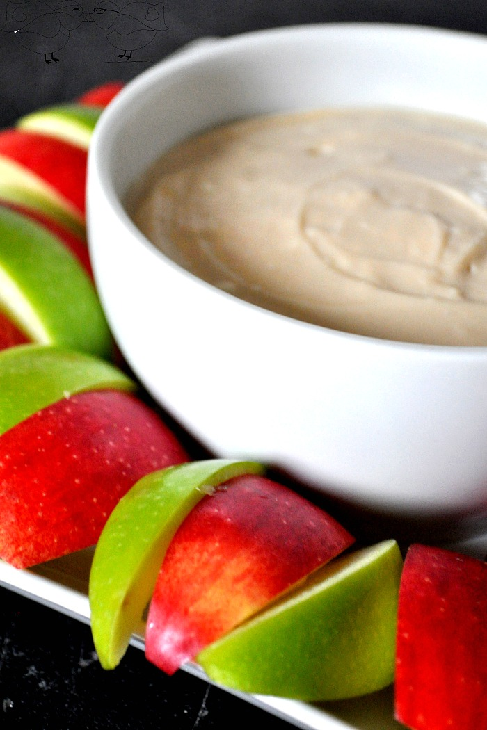 Caramel Cheesecake Dip with Apples - Easy and Delicious Treat that is also Gluten Free. I love how many great items could be paired with this dip and how easy it is to bring along to a holiday party. {The Love Nerds}