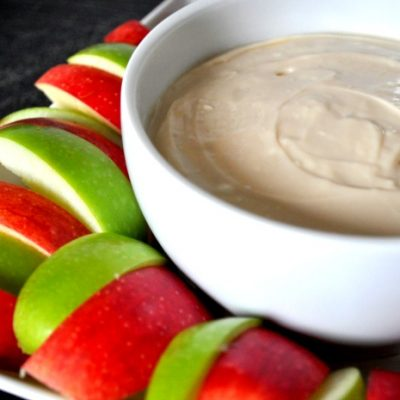 Caramel Cheesecake Dip with Apples