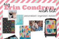 My Erin Condren Wish List {Personalized, Organized & Stylized}