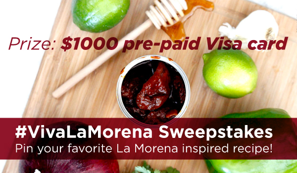 Spice up the holidays! Enter the #VivaLaMorena $1000 Sweepstakes for a chance to win $1000 pre-paid Visa card! Discover flavorful recipes, rules and enter here! #ad